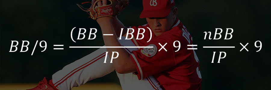 BB/9 – 9이닝당 볼넷 개수 (Base on Balls Per 9 Innings Pitched) 2